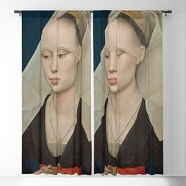 Portrait of a Lady by Rogier van der Weyden Blackout Curtain