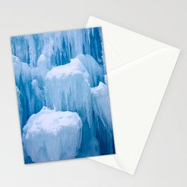 Beautiful Blue Icicles Stationery Cards