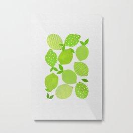 Lime Crowd Metal Print