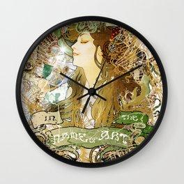 MUCHA Wall Clock