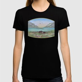 Mom and Cub Hanging out at the Lakefront T-shirt