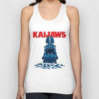 pacific rim Tank Tops featuring KaiJaws (Pacific Rim/Jaws) by Tabner's