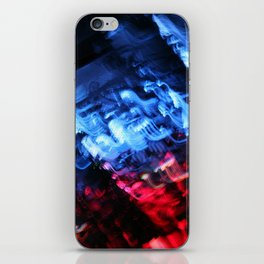 Blue & Red Abstract iPhone Skin