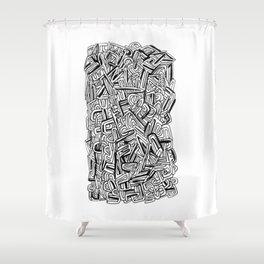 ALPHABETSOUP Shower Curtain