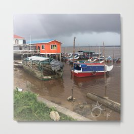 Murky Pier in South America Metal Print