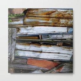 Wood&Rust Metal Print