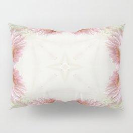 Pink Chrysanthemums Kaleidoscope Art 9 Pillow Sham