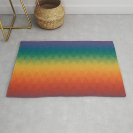 Colorful Geometry Pattern Abstract Rainbow Trendy Color Rug
