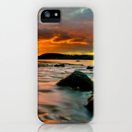 Rocky Harbour Sunset iPhone Case