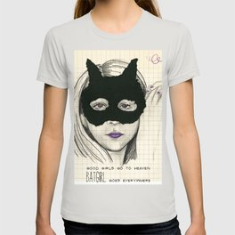 BATGIRL goes everywhere T-shirt