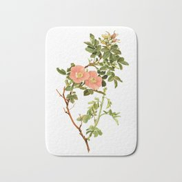 """Rosa Fendleri by Alfred Parsons (part of """"The Genus Rosa,"""" published in 1914) Bath Mat"""