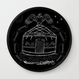 Birth of the Shaman Wall Clock