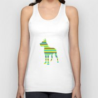 great dane Tank Tops featuring Great Dane Stripes by Crayle Vanest
