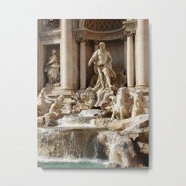 Rome, Italy. Trevi Fountain. Metal Print