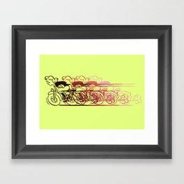 Motorcycle Rider Framed Art Print