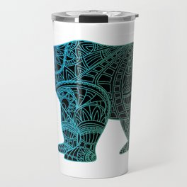 Colorful Rainbow Bear - III Travel Mug