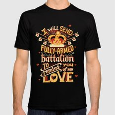 Battalion Black Mens Fitted Tee MEDIUM