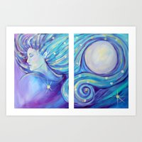 I AM the Moon and the Stars Art Print
