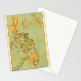 Map Of The Philippines 1898 Stationery Cards