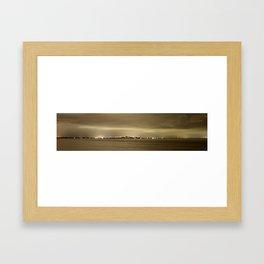 Fort Myers Beach Panorama  Framed Art Print