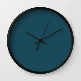Christmas Winter Night Blue Wall Clock