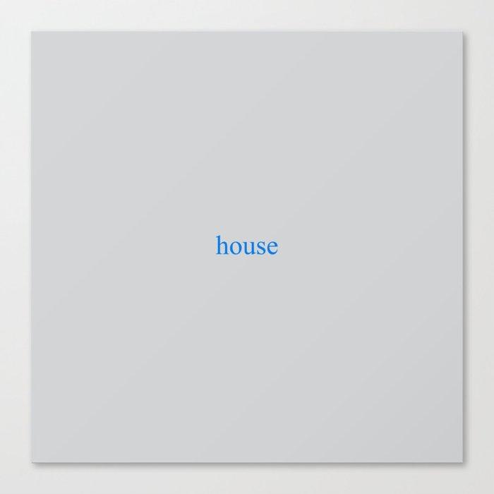 House of Leaves house grey. Leinwanddruck