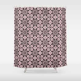Blushing Bride Floral Pattern Shower Curtain