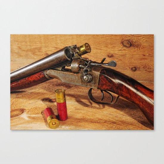 Old Double Barrel Stevens Canvas Print