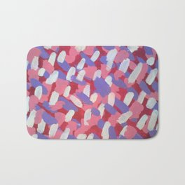 Pink and Purple Brushstrokes Art Bath Mat
