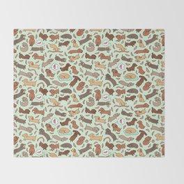 Wiener Dog Wonderland Throw Blanket