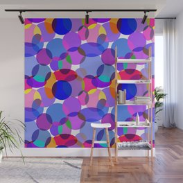 Pink and Purple Toned Layered Circles! Wall Mural