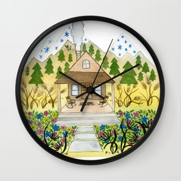 Welcome Cabin Wall Clock