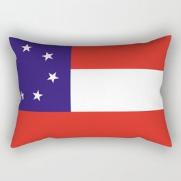 Georgia state state flag united states of america country Rectangular Pillow