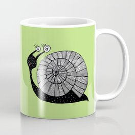 Cartoon Snail With Spiral Eyes Coffee Mug
