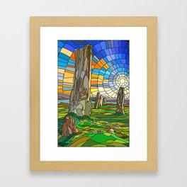 Calanais Sunset Framed Art Print