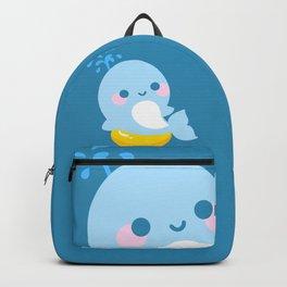 Kawaii whale sunbathing Backpack