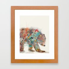 into the wild (the grizzly bear Framed Art Print