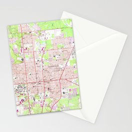 Vintage Map of Gainesville Florida (1966) Stationery Cards