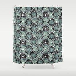 Moonlight Dahlias Shower Curtain
