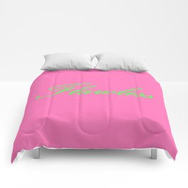 Flawless Pink & Green Comforters