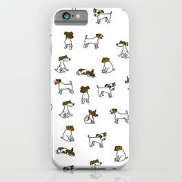 Jack Russell Terrier Cartoon iPhone Case