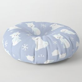 ARCTIC FRIENDS (blue) Floor Pillow
