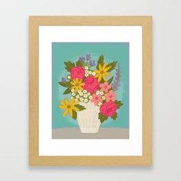 Sunny Florals Framed Art Print