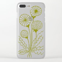 Dandelion green Clear iPhone Case