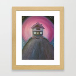 House in the Pink Sky Framed Art Print