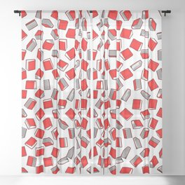 Polka Dot Books Pattern II Sheer Curtain