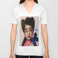 ahs V-neck T-shirts featuring Ma Petite-AHS by MELCHOMM