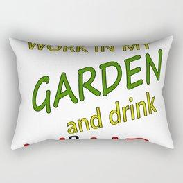 Work in Garden And Drink Wine Rectangular Pillow
