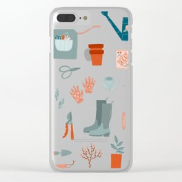 Gardening Things Clear iPhone Case