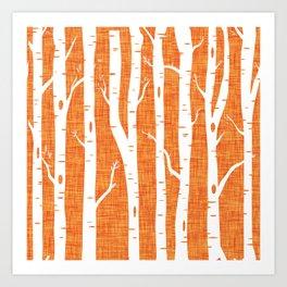 Canadian Wildlife Woods Ocher Art Print